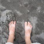 Volcanic black sand