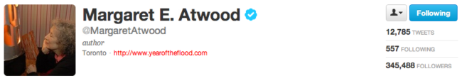 Margaret Atwood on Twitter