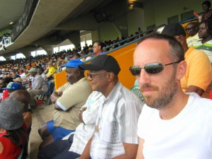 Me at the cricket, Barbados 2012