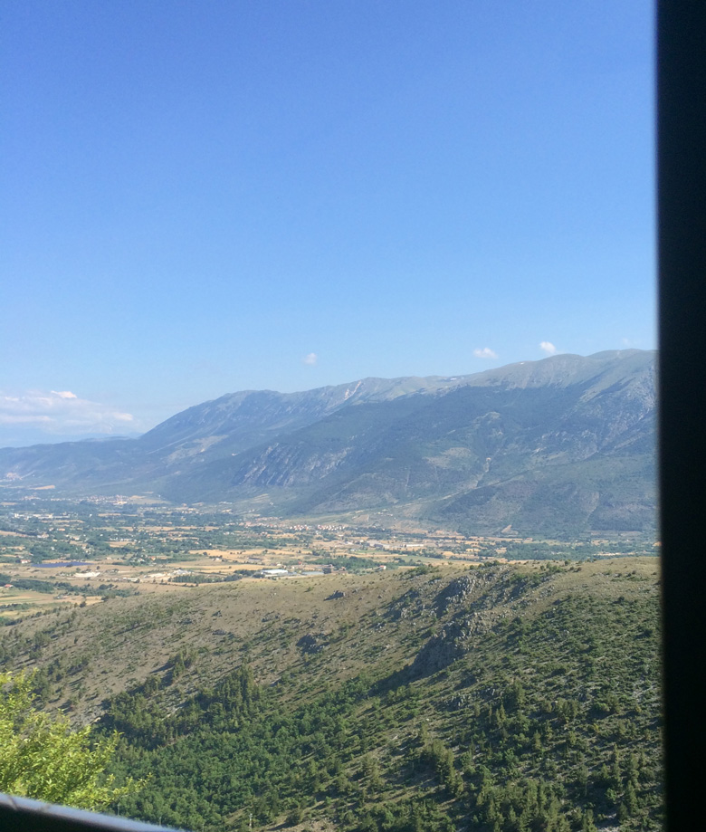 View from Transiberiana d'Italia train