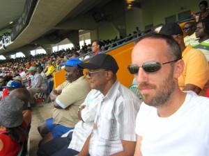Me at the cricket, Barbados 2012