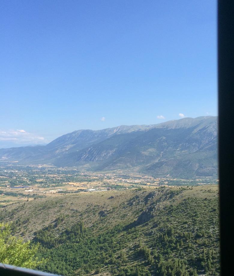 View from Transiberiana d'Italia train
